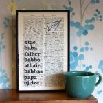 Fathers Day Typographic Art..