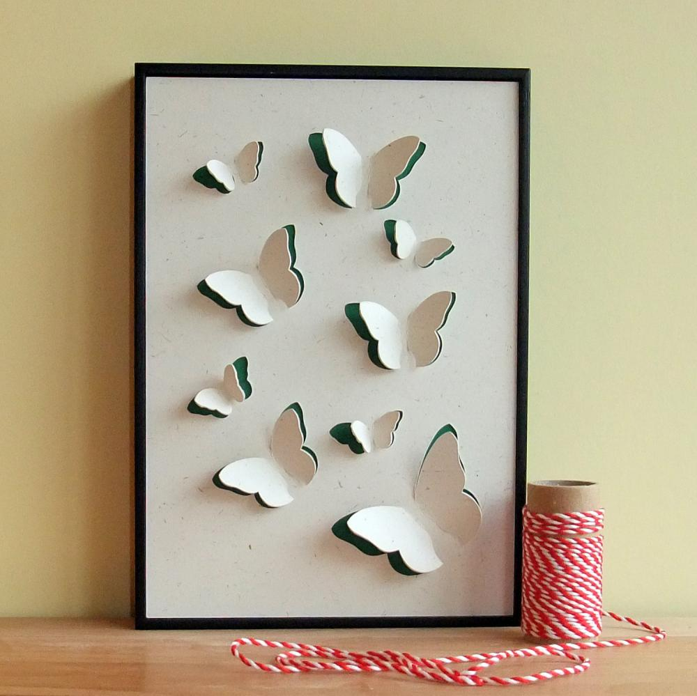 Butterfly Art Hand Cut 3D Framed wall art