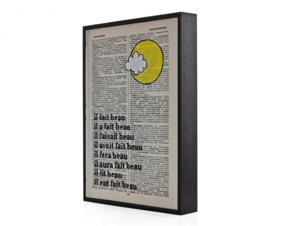You Are My Sunshine eco friendly typographic framed dictionary print