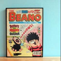 Comic Book Art Beano or Dandy front cover in Eco Friendly Frame