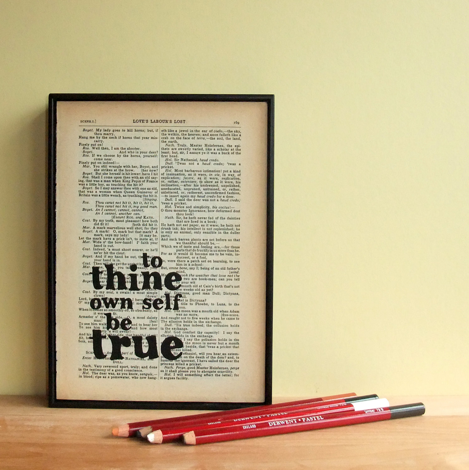 inspirational quote typographic art on vintage shakespeare
